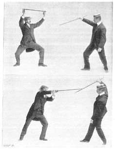 Self Defence with a Walking Stick (1900)  (Bartitsu stick fighting sequence)