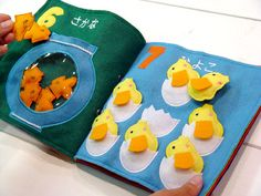 Counting quiet book idea....the website is in another language, but the pictures are good