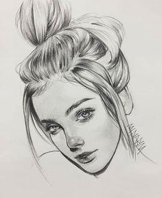 Excellent Drawing Faces With Graphite Pencils Ideas. Enchanting Drawing Faces with Graphite Pencils Ideas. Sketches Of Girls Faces, Girl Drawing Sketches, Portrait Sketches, Cool Art Drawings, Pencil Art Drawings, Realistic Drawings, Drawing Faces, Portrait Art, Portraits