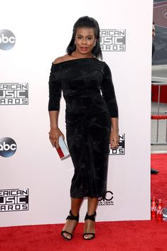 @roressclothes closet ideas #women fashion outfit #clothing style apparel black dress Uzo Aduba