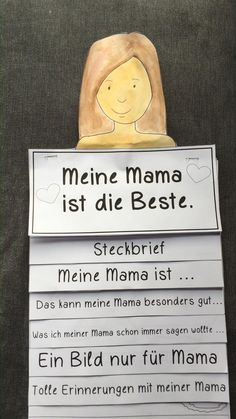 Basteln Mother's Day Flipbook Elementary School