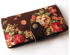 iPhone 7 Case, iPhone 7 Plus Sleeve, iPhone 6 case, Samsung Galaxy Phone Wallet, Padded Phone Case - Vintage Flowers
