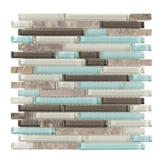 Cerulean Blue Glass Mosaic - 12 x 12 - 100419720 Exterior Color Schemes, Coastal Living Rooms, Coastal Cottage, Coastal Style, Palette, Floor Decor, French Country Decorating, Mosaic Glass, Stone Mosaic