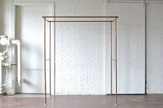Copper+Arbor: A simple but stunning piece that adds a beautiful metallic accent or a hint of industrial aesthetic to your wedding ceremony set up, trade show booth or visual display. Event photos by Sarah Street Photography, Michael Simon Photography, and 88 Love Stories.