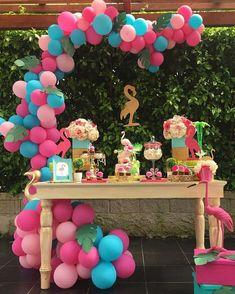 Pink Flamingo Party, Flamingo Birthday, Flamingo Decor, 13th Birthday Parties, Luau Birthday, Aloha Party, Luau Party, Flamenco Party, Tropical Party