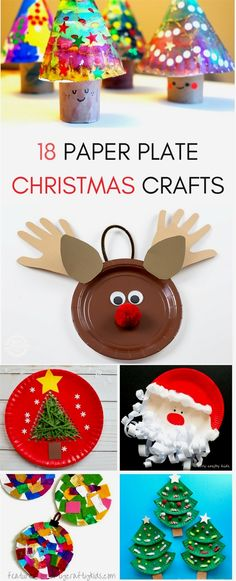 18 seasonal paper plate Christmas Crafts for kids to do this holiday season! From Santa to Christmas trees, ornaments and more! 18 seasonal paper plate Christmas Crafts for kids to do this holiday season! From Santa to Christmas trees, ornaments and more! Kids Crafts, Preschool Christmas Crafts, Christmas Paper Crafts, Christmas Activities, Toddler Crafts, Kids Christmas, Holiday Crafts, Christmas Trees, Christmas Tree Decorations For Kids