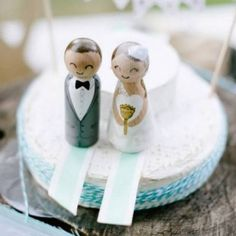 How cute are these handmade customised cake toppers from Ladies & Gentlemen? (Pic: Yolande Marx)