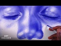 Artist Draws Hyperrealistic Portraits Using Bic Ballpoint Pens - YouTube Bic Pens, Ballpoint Pen Drawing, Portrait Art, Portraits, Cast Art, Wow Products, Teaching Art, Drawing Tips, Art Music
