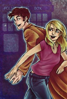 The Doctor and Rose by ~yurixmeister on deviantART
