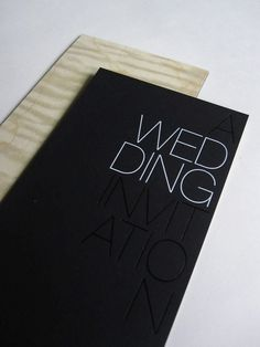 Black & White foil stamp wedding invitations by Mara