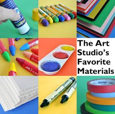 The Art Studio's Favorite Materials | Carle Museum