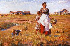 The Prairie is My Garden.  Harvey Dunn.  SD Art Museum, SDSU, Brookings, SD