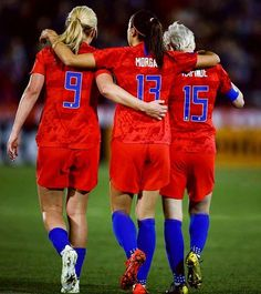 Horan, Morgan, and Rapinoe Girls Soccer Team, Usa Soccer Team, Female Soccer Players, Play Soccer, Soccer Stuff, Team Usa, Soccer Room, Soccer Sports, Nike Soccer