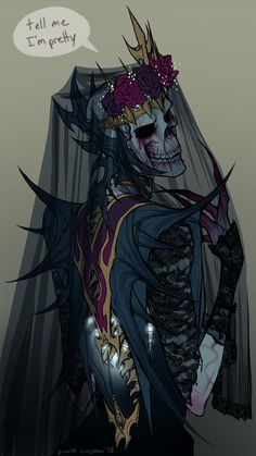 """A recent lich OC I made. his name is Vroscaz, he is dtf and loves lace"" Fantasy Character Design, Character Design Inspiration, Character Concept, Character Art, Concept Art, Dnd Characters, Fantasy Characters, Arte Horror, Creepy Art"