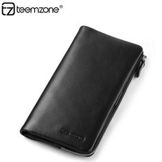 teemzone Men and Women Genuine Leather Bifold Wallet Purse Cash Card Holder #teemzone #clutchhandbagphonewallet