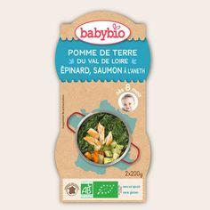 Bol Menu du Jour - Pomme de Terre du Val de Loire, Epinard, Saumon à l'Aneth - dès 8 mois - Produit en France - Babybio