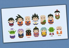 Featuring: Gohan, Goku, Krillin (Kuririn), Vegeta, Tien Shinhan, Yamcha<BR/><BR/>Piccolo, Trunks, Popo, Chi-Chi, Bulma, Dende and Kame-Sen'nin (turtle hermit)