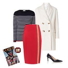 De kleur rood straalt vrouwelijk- en zelfverzekerdheid uit! Draag deze kokerrok om een statement te maken, de rits is een echte eye-catcher. Ze is gemaakt van een rijke cool wool stof met lichte glans, wat perfect het hele jaar te dragen is.  Door de verticale lijnen lijk je langer en slanker. Dit model valt standaard over de knie. Combineer haar met een beige trui of mooie witte blouse en je bent verzekerd van een stylish look! Mantel Jas, Polyvore, Outfits, Style, Fashion, Swag, Moda, Suits, Fashion Styles