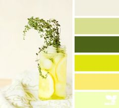 This color combo is great for a kitchen. The yellow is energizing and the green is calming for those harried nights getting dinner done! Yellow & green are great colors for appetizing.