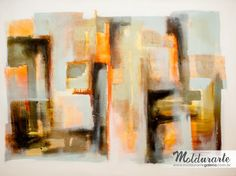 Painel Abstrato. Artista: Tarocco. Tamanho: 180 x 120 cm. Acervo Moldurarte Galeria.