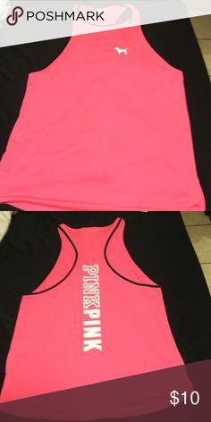 Pink Victoria's Secret Lg tank top Worn twice like new Pink tank top. PINK Victoria's Secret Tops Tank Tops