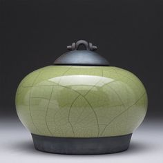Another Christmas Gift Idea.. for me :) Raku ceramic Jar with lid,Olive green,Raku Fired Covered Jar, home decor,handmade jar,art pottery,small urn