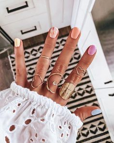 What manicure for what kind of nails? - My Nails Short Nail Designs, Nail Designs Spring, Nail Art Designs, Nails Design, Nagellack Design, Nagellack Trends, Gradient Nails, Acrylic Nails, Glitter Nails