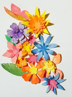 Diy paper flower templates and tutorial at happythought paper flower tutorial and templates at happythought mightylinksfo