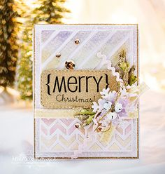 Merry Christmas card by Michele Kovack for #SBAdhesivesby3L and #Spellbinders Product Partner Blog Hop! Craft Tutorial! https://www.scrapbook-adhesives.com/blog/2014/11/19/spellbinders-partner-blog-hop-day-2/