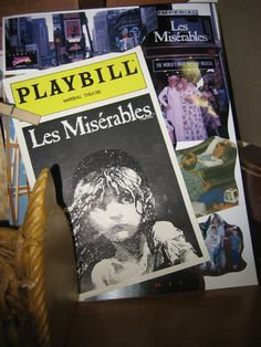 Les Miserables At Musical Theatre Play Bill.  This is mine and my daughters favorite of all time...we love to watch it over and over.