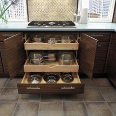 Cozinha funcional - Armário planejados - Gavetão para panelas