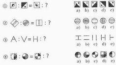 Ein IQ-Test mit Zahlenfolgen, Grafik-Analogien, Logik, Faltvorlagen, Textaufgaben, Schätzaufgaben, Sprachvermögen, etc. Math Equations, Words, Language, Horse
