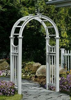 Bring European charm to your outdoor space with the beautiful Vienna Arbor; a piece that's sure to become the focal point of your garden or yard.