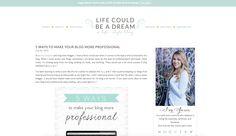 Ideia de layout clean http://www.lifecouldbeadreamblog.com/