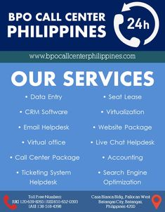BPO Call Center Philippines is a reliable offshore outsourcing partner with an experience in providing professional customer support services for decades. Learn firsthand how our services will enhance your business. Get in touch with us and we will come up with the best solution for you.  #outsourcing #outsourceph #outsourcingcompany #customersupport #customerservice #bpo #bpocompany #callcenter #callcenteroutsourcing Data Entry, Customer Support, Growing Your Business, Search Engine, Philippines, Software, Touch, Learning, Customer Service
