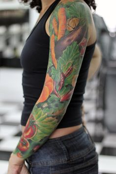 The True Vegan Tattoo... reason why i love tattoos.. when you love something you love something and u cant help you want it tatted