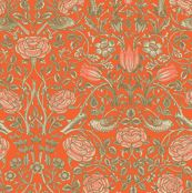 Tiny Tudor Roses Tawny custom wallpaper by amyvail for sale on Spoonflower Tudor Rose, Forest Stewardship Council, Perfect Wallpaper, William Morris, Custom Wallpaper, Textured Walls, Installation Art, Spoonflower, Fabric Design