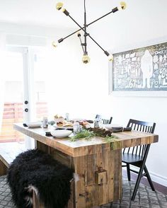 """""""Want to recreate the look of this dining room in your own home? @kellilamb_ is spilling the details on ruemag.com today!"""""""