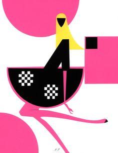 Fashion illustrator Piet Paris. Collage, cut, pasted, composed by hand. Illustrateur de mode. Illustrations coupée / collée collages. Harper's Bazaar, Viktor & Rolf, Saks Fifth Avenue