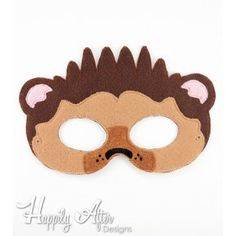 Hedgehog Mask ITH Embroidery Design