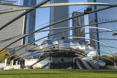 Jay Pritzker Pavilion, designed by Frank Gehry in 1999.