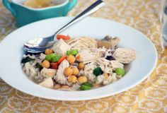 Mediterranean Chicken Soup - A simple, comforting meal that is ready in under an hour.