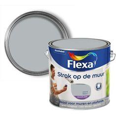 Flexa muurverf Strak Op De Muur mat beton 2,5L