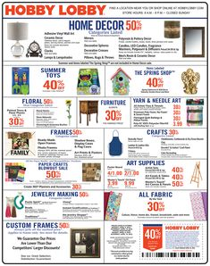 hobby lobby coupons sales schedule … Hobby lobby
