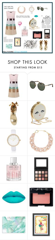 """""""Party"""" by evelynn-cole ❤ liked on Polyvore featuring Giambattista Valli, The Row, Whiteley, River Island, DIANA BROUSSARD, Jimmy Choo, LASplash, NARS Cosmetics, Americanflat and love"""