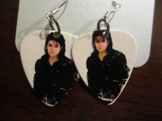 Royal Suzie Michael Jackson Guitar Pick Earrigns by RoyalSuzieJewlery, $20.00
