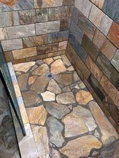 4 Plentiful Simple Ideas: Corner Shower Remodeling Walk In tub to shower remodel half walls.Old Shower Remodel shower remodel on a budget tips.Walk In Shower Remodeling Glasses. Rustic Bathroom Designs, Rustic Bathrooms, Dream Bathrooms, Amazing Bathrooms, Bathroom Ideas, Bathroom Colors, Small Bathroom, Log Cabin Bathrooms, Bathroom Mirrors