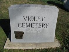 Violet Cemetery, the once-rural old pioneers' graveyard, now in Osceola, Mississippi County, Arkansas. This is where many Mills ancestors were laid to rest, as well as Bowens and Crecelius family.