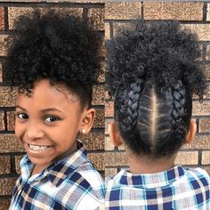 Lovely Little Natural with a Curly Updo IG:@_londyn.rhayneb__  #naturalhairmag #naturalhair