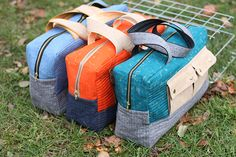More Cargo Duffle action over here!  Finally showing the other two Cargo Duffles I made for quilt market.  Gosh, I